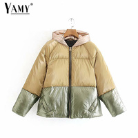Color block jacket women korean coats and jackets women winter gold sequin jacket silver reflective jacket women outerwears