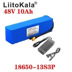 LiitoKala e-bike batterie 48v 10ah 6ah li ion batterie pack vélo kit de conversion bafang 1000w et chargeur XT60 T Plug