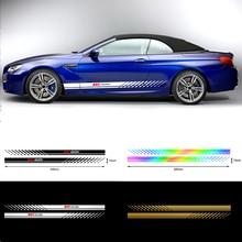 Спортивные полосы 2 шт. Автомобильная дверь боковая юбка кузова наклейка для Hyundai Creta Equus IONIQ ix55 KONA EON Tucson Solaris Azera GDI i10