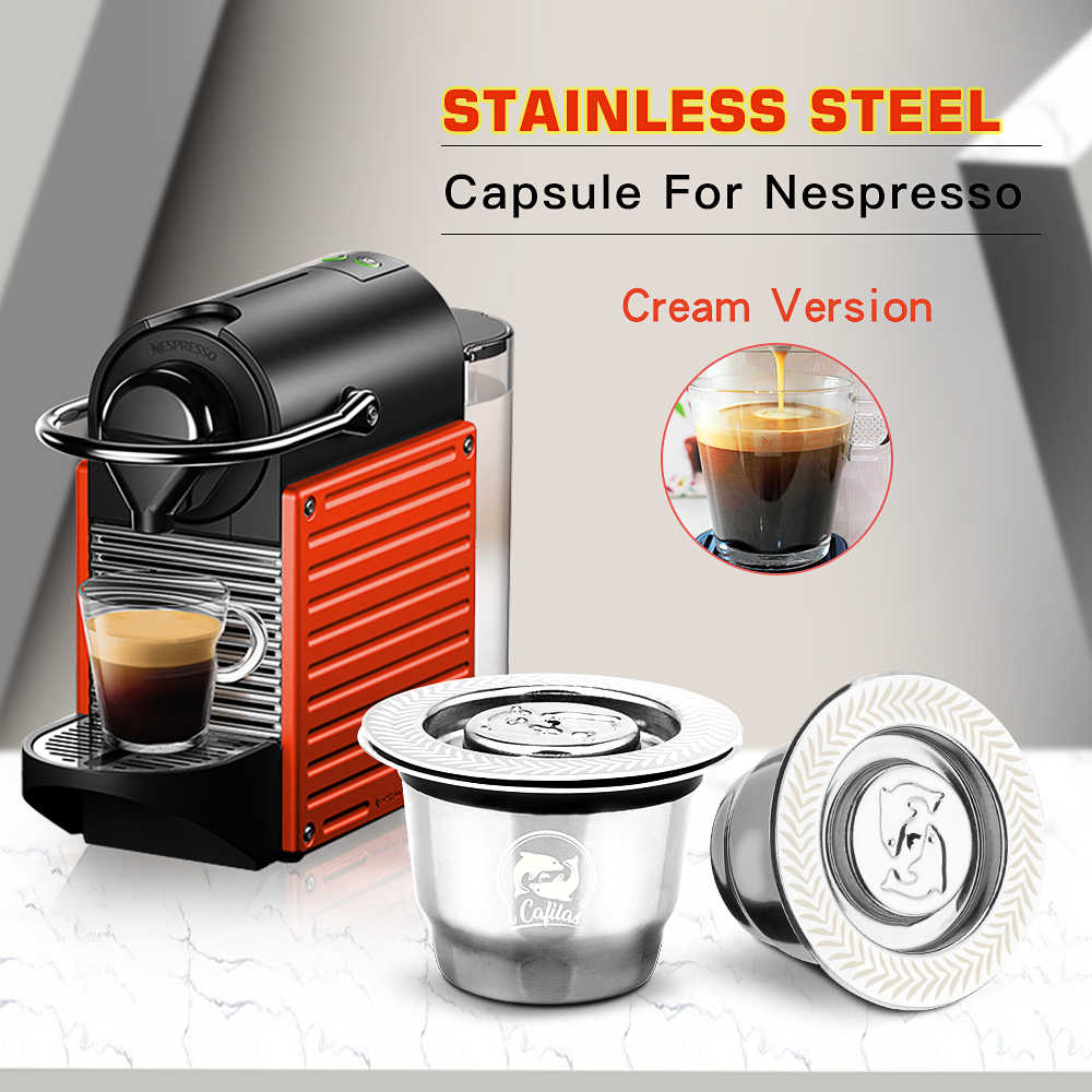 iCafilas For Nespresso Reutilisable Refillable Capsule Crema Espresso Reusable New Refillable For Nespresso