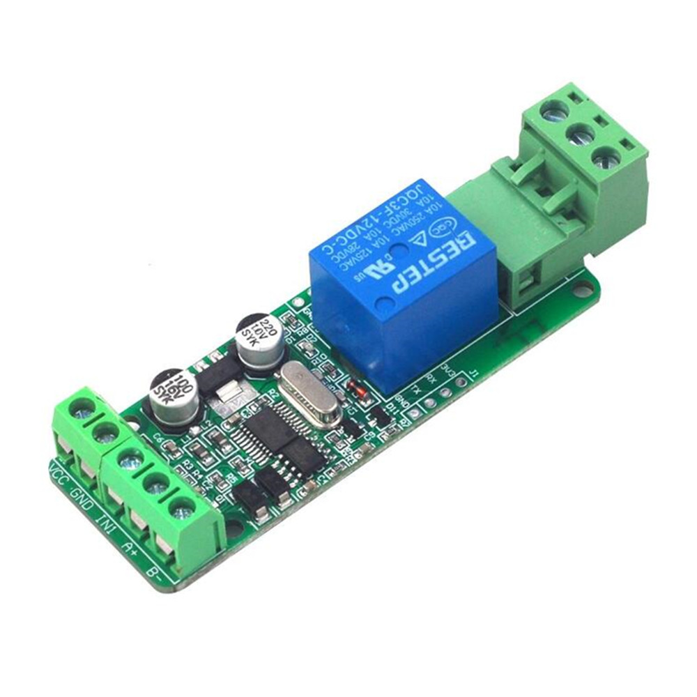 Taidacent PLC Automotive Programmable Modbus-Rtu RS485 TTL Ethernet Switches Input 12V 1 Channel Automobile Power Relay Module