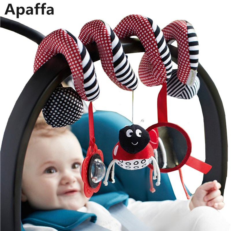 Baby Toys For Kids 0-12 Months Plush Rattles Stroller Toy Crib Spiral Hanging Mobile Infant Newborn Gift Sensory Education
