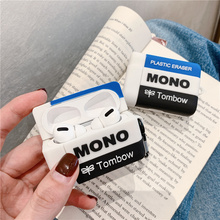Funny 3D Eraser Silicone Case for Apple Airpods 3 2 1 Pro Case Cute Earphone Cover for Air pods Pro Cover Headphone Charging Box