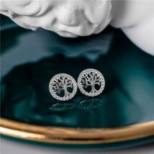 Jewelry Silver Earrings Diamond-Studded 925-Sterling-Silver SODROV Women Forest-Wishing