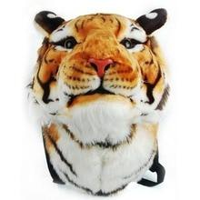 Individualized and Popular Backpack Tiger Head Schoolbag Men Women Couple Animal Shape Travel Kawaii