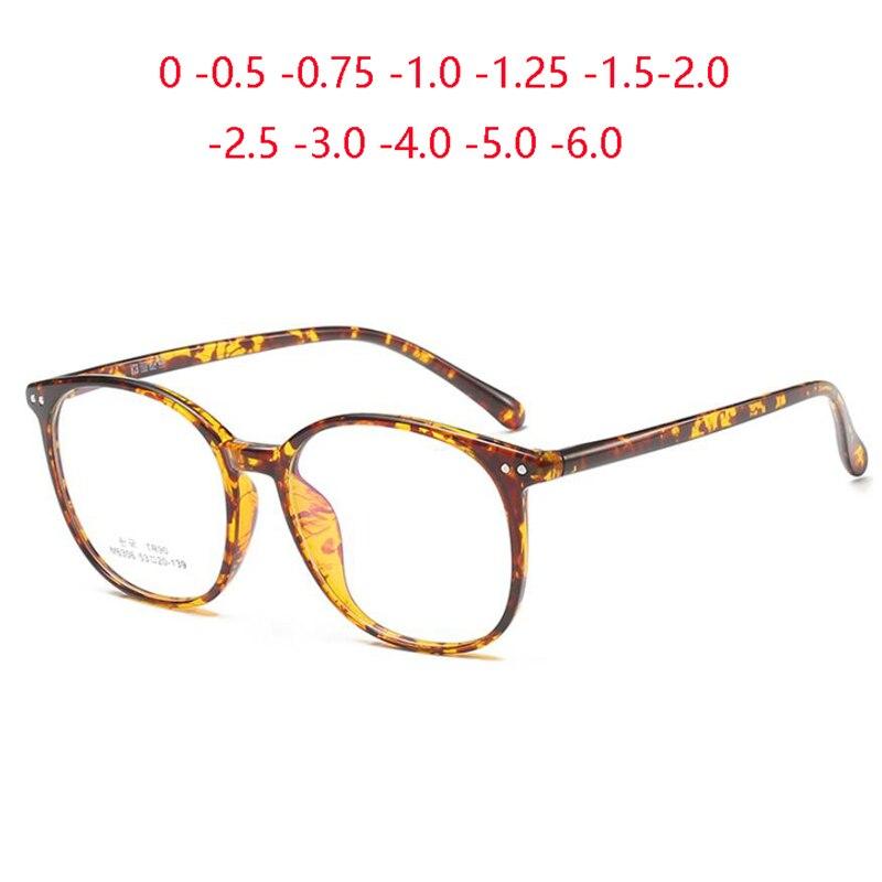Niet TR90 Runde Photochrome Optische Gläser Frauen Große Rahmen Blu-ray Blockieren Rezept Brillen Männer 0-0,5-0,75 Zu-6,0