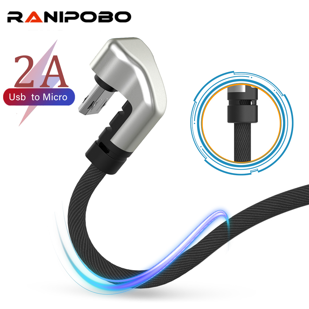 Nylon USB Cable 180 Degree Fast Charger USB Micro Cable For Xiaomi Mi 8 Samsung Galaxy S9 Plus Mobile Phone USB-C Cord