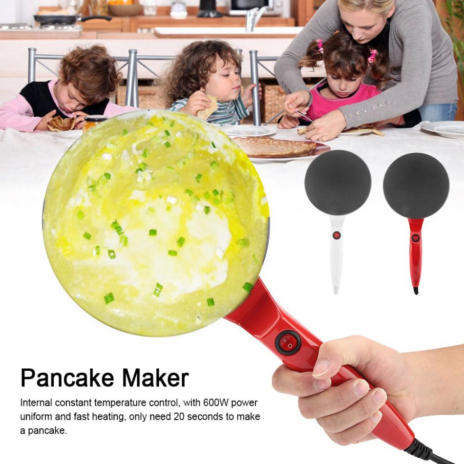 Omelet Pans Electric Round Non-stick Pancake Maker Crepe Machine Frying Pan Pizza Baking Tools 220V Making Pancake, Blintzes