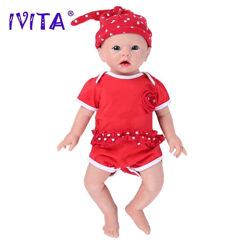 IVITA WG1519 48 см 3700 г реалистичные силиконовые куклы Reborn для новорожденных, младенцев, малышей, Реалистичная кожа, мягкая игрушка высокого качес...