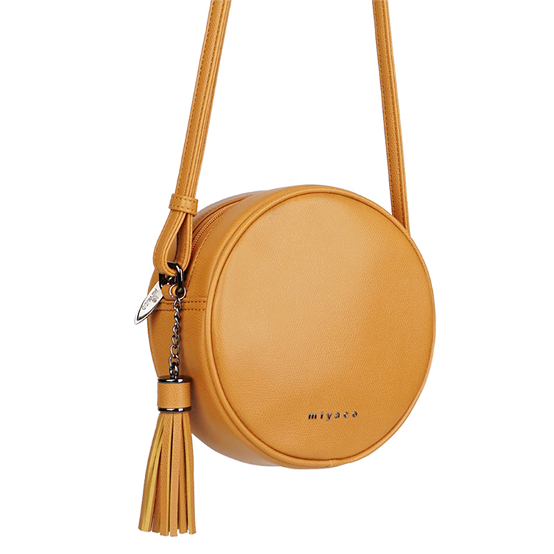 Miyaco Fashion Crossbody Bags Handbags Women Round Shoulder Bag Brand Messenger Bags Small Ladies Cross Body Bags With Tassel