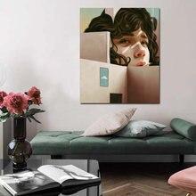 Абстрактная Картина на холсте «Курить в уголке»