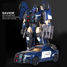 G1 Barricade Black Mamba Transformatie TF5 Politie Auto Model Voyager Oversize Action Figure Robot Speelgoed(China)