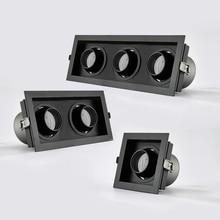 Проект Корпус украшения все черные одинарные двойные три головы 15W 30W 45W 35W COB светодиодные прожекторы решетки