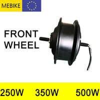 Bicicleta eléctrica de rueda delantera Kit DE CAMBIO DE buje sin escobillas Motor de las dos para V/freno de disco E Kits de conversión de 250W-500W de alta velocidad