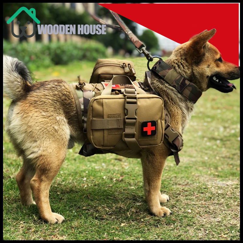 Military Tactical Dog Harness Front Clip Law Enforcement K9 Working Pet Dog Durable Vest For Small Large Dogs 1000D Nylon