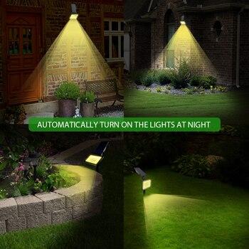 2 PACK Solar Spotlights 50 LED Outdoor Landscape Wall Light Waterproof IP44 Warm White 3500K Adjustable Solar Lights for Garden 6