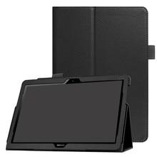Capa para huawei mediapad t5 10 t3 9.6 m5 lite 10.1 8.0 tablet funda magro dobrável suporte de couro do plutônio capa para huawei m6 10.8 caso