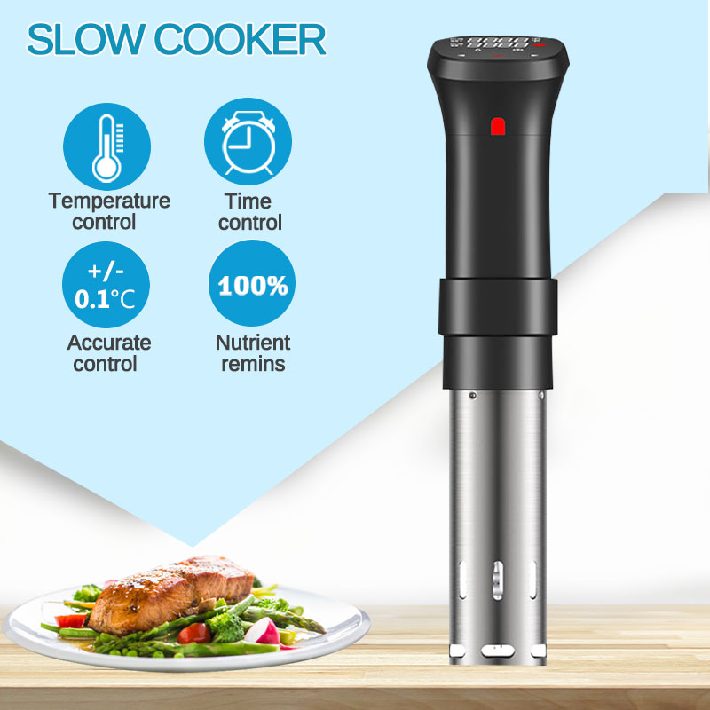 1100W 20L Vacuum Slow Sous Vide Food Cooker Powerful Immersion Circulator Machine LCD Digital Timer Display Stainless Steel