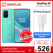 Global Rom OnePlus 8T 8 T OnePlus Official Store OnePlus Loja oficial 8GB 128GB Snapdragon 865 5G Smartphone 120Hz AMOLED Fluid Screen 48MP Quad 65W