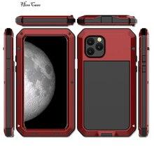 R JUST armure en Fiber de carbone en métal en aluminium antichoc étui pour iphone 7 coque de téléphone anti chocs extérieure pour Apple iphone 7 Plus