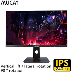 Mucai 27 Inch 240Hz Ips Monitor Desktop Computer Game Pc Lcd Display Gamer Hd Flat Panel Hdmi/Dp lifting En Roterende Base