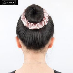 Image 5 - LilySilk 100% Pure Silk Scrunchiesชุด 5 แพ็คCharmeuseหัวผมBandอุปกรณ์เสริมCareหรูหราสีสุ่ม