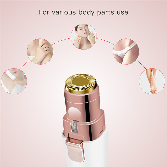 Electric Lady Shaver Epilator Eyebrow Trimmer Mini Portable Women Body Shaver Lipstick Shape Hair Removal Painless Face Trimmer 3