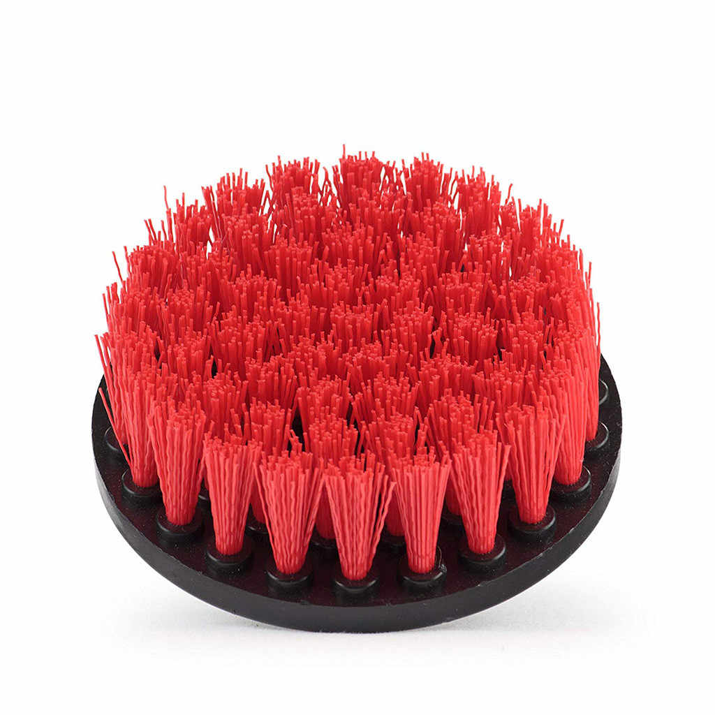 4 אינץ תרגיל כוח לשפשף נקי מברשת עבור עור פלסטיק עץ ריהוט אמבטיה ניקוי כוח לשפשף מנקה כלים ערכת 19SEP10
