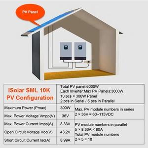 Image 5 - EASUN POWER 8000 واط الشمسية العاكس 60A MPPT 10KVA قبالة الشبكة العاكس 48 فولت 220 فولت نقية شرط موجة الهجين العاكس 60A شاحن بطارية