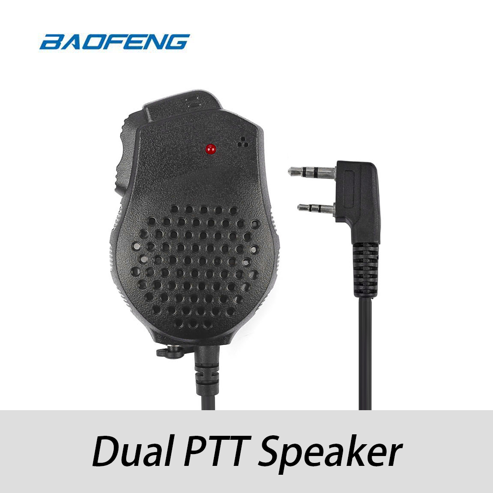 Original Baofeng Dual-PTT Speaker For GT-5/ UV-82 Series/ UV-82HX