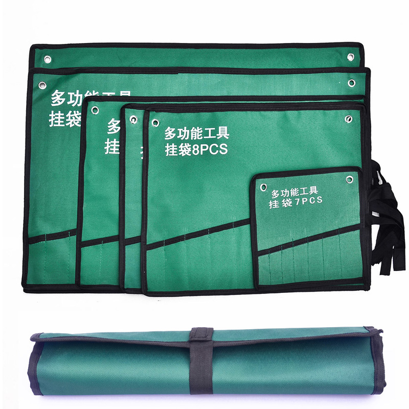 Professional Heavy Duty Canvas Tool Bag Wrench Organizer Hanging Bag Electrician Tool Storage Organizer Free Delivery