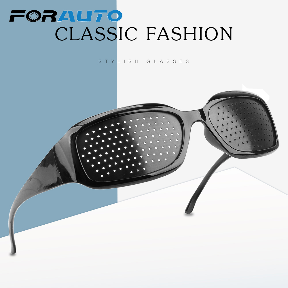 FORAUTO Motorcycle Glasses Eye Exercise Eyeglasses Pinholes Glasses Anti-fatigue Eye Protection Glasses Eyesight Improvement