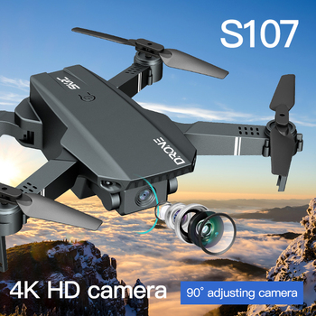 2021 New S107 Mini Drone Profession 4K HD Camera Drone Helicopter WiFi FPV Drone Real-Time Transmission RC Quadcopter toy Drone 2