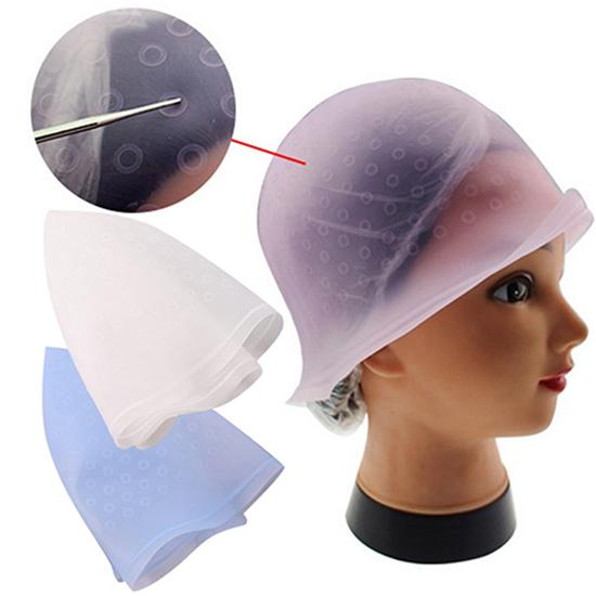 1pcs Pro Salon Dye Silicone Cap Hair Color Coloring Highlighting Reusable Caps Hat Frosting Tipping Dyeing Color Styling Tools