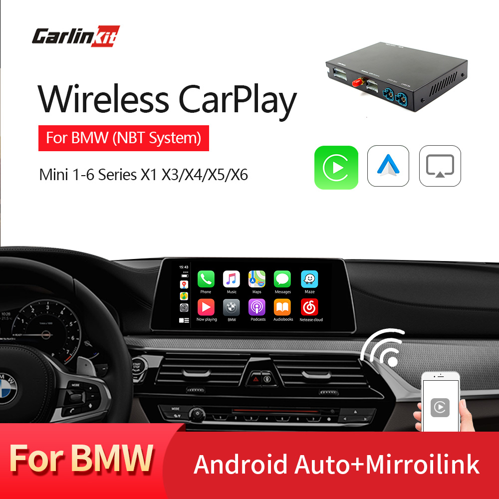 Carlinkit Wireless Apple Carplay/ Android Auto/ Mirrorlink/ Control Voice/  For BMW MiNi/X1/X3/X4/X5/X6 With Wireless NBT System
