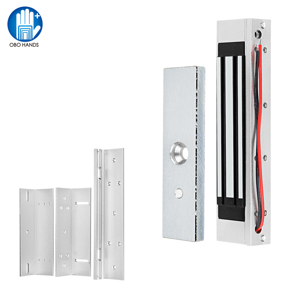 Waterproof Magnet Lock 180KG/350lbs Electric Magnetic Lock DC 12V Electromagnetic Locks ZL Bracket For Wooden/Metal Door Access
