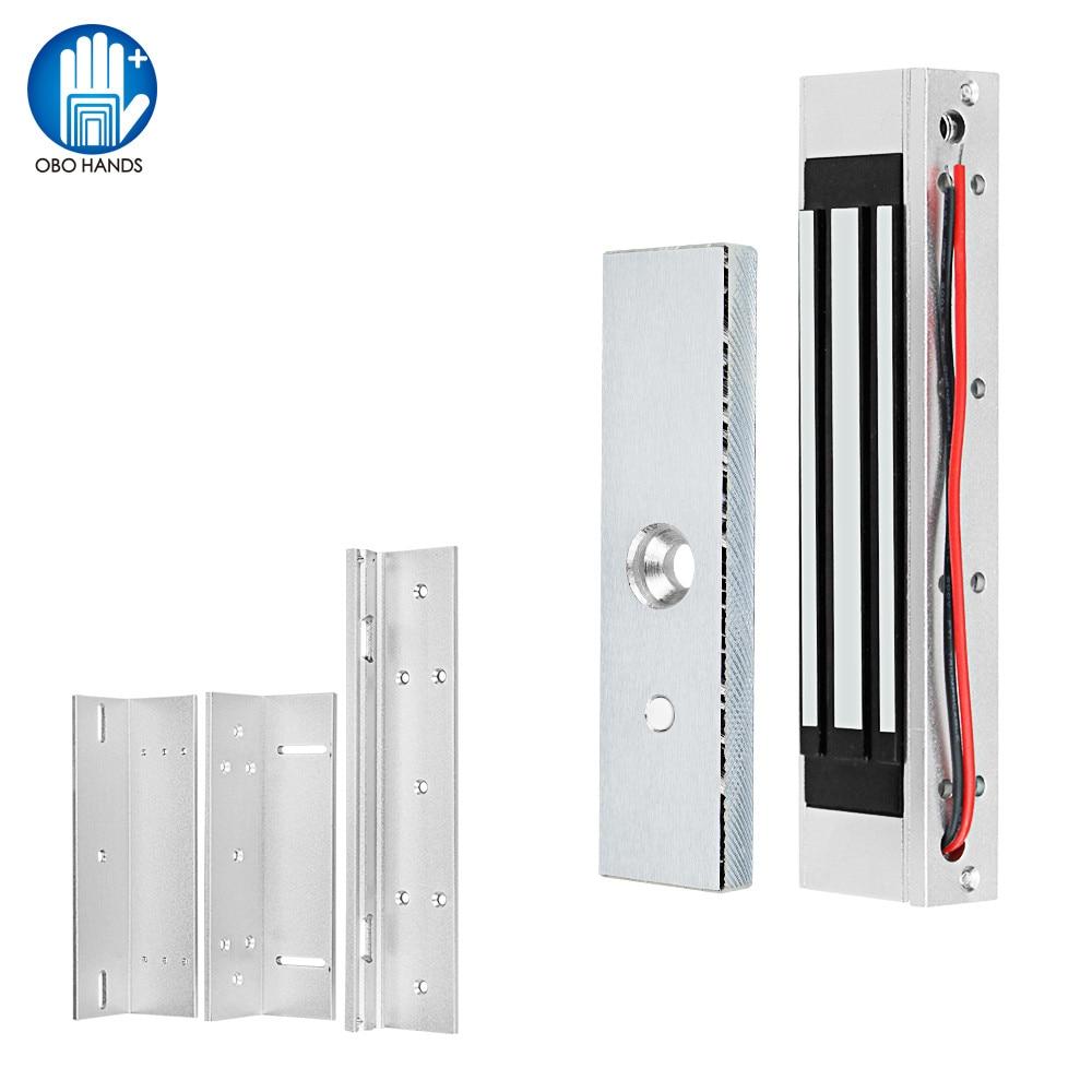 Waterproof Magnet Lock 180KG/350lbs Electric Magnetic Lock DC 12V Electromagnetic Locks ZL Bracket For Wooden/Metal Door Access