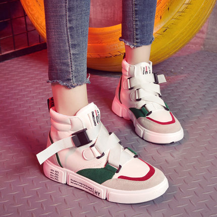 White Shoes Korean Female Autumn Casual Women Students New Tide Wild High-To-Help