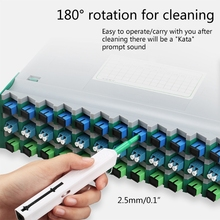 One-Click Cleaning Tool  Fiber Optic Connector Cleaner Pen Cleans 2.5mm SC/FC Ferrules Push Type With 800+ Cleanings