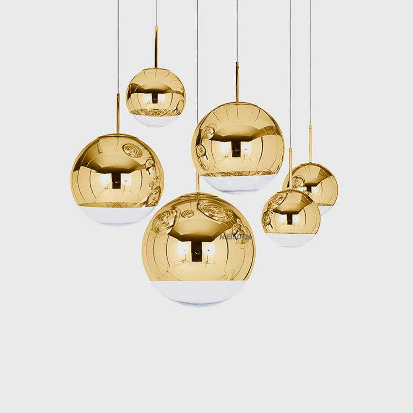 Nordic Gold Silver Glass Ball LOFT LED Pendant Lights Restaurant Bar Industrial Lighting Pendant Lamp Kitchen Fixtures Luminaria|Pendant Lights| |  - title=