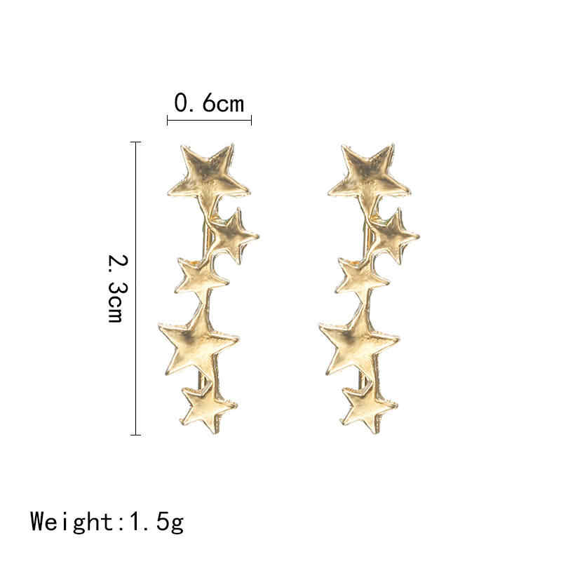 เกาหลีคลิปบนต่างหู Simple Star STAR EAR EAR ต่างหูผู้หญิงอินเทรนด์ EAR Bone Cuff ต่างหูแฟชั่นเครื่องประดับของขวัญ