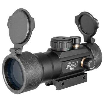 DIANA 3X42 Green Red Dot Sight Scope 2X40 Red Dot 3X44 Tactical Optics Riflescope Fit 11/20mm Rail 1X40 Rifle Sight for Hunting 4