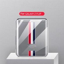Caso protetor à prova de choque claro cristal duro pc capa traseira para samsung galaxy z flip fold acessórios do telefone móvel