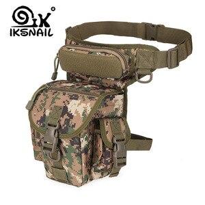 IKSNAIL Tactical Sport Bag Drop Leg Army Bags Fanny Camping Hiking Trekking Military Shoulder Saddle Nylon Multi-function Pack(China)