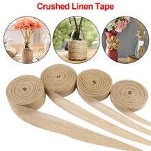 Diy natural juta vintage cinta serapilheira ribbo artesanato suprimentos material casamentos cinto floricultura festa decoração artesanato