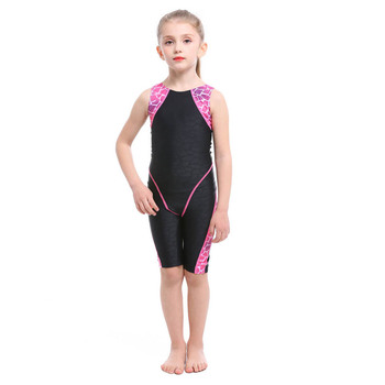2020 New Professional Girls One-piece Swimming Trunks bathing Children suit Swimsuit High Quality Strech Fabric Swimwear - Black, S