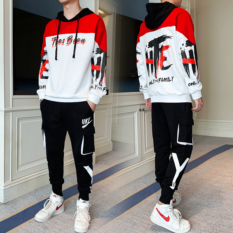 2020 New Men's Sets Hoodies+Pants Harajuku Hip Hop Sport Suits Moda Hombre Casual Sweatshirts Tracksuit Male Sportswear Clothing