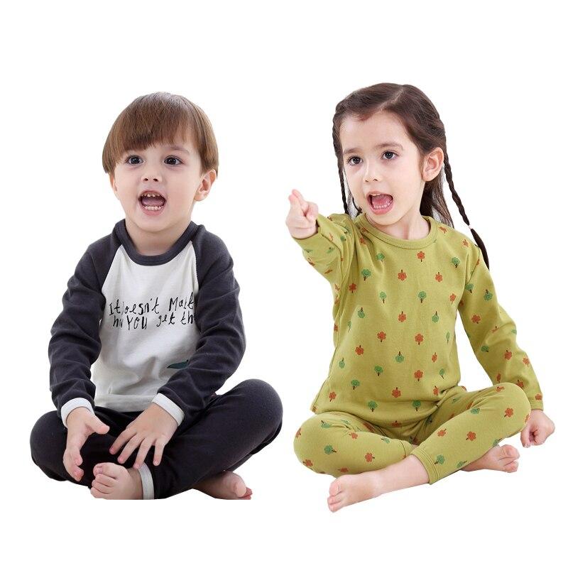 Autumn and winter 2020 leisure children's underwear set children's pajamas cartoon home wear children's clothing