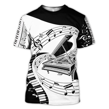 Tessffel New Fashion Musical instrument Love Piano Art Colorful Casual Funny 3D full Print T-shirt Unisex Mens Womens Style-1 2