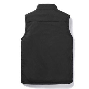 Image 3 - Casual Autumn Winter Fleece Mens Vest Black Sleeveless Mens Vest  5XL Warm Thick Mens Vest Jacket Chaleco Gilet